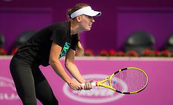 February 10, 2019 - Doha, QATAR - Caroline Wozniacki of Denmark during practice ahead of the 2019 Qatar Total Open WTA Premier tennis tournament (Credit Image: © AFP7 via ZUMA Wire)