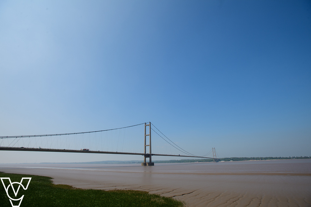 Stock photograph:<br /> <br /> The Humber Bridge seen from Barton Upon Humber.<br /> <br /> Picture: Chris Vaughan Photography<br /> Date: May 25, 2017