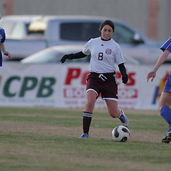 2 December 2008: St. Thomas Aquinas  Michelle Mobley (#8) during the St. Thomas Lady Falcons 5-2 loss to Country Day in a non-district soccer match at Falcons Soccer Field in Hammond, LA.