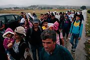 Idomeni, Greece 2015. Refugee crisis at balkan route