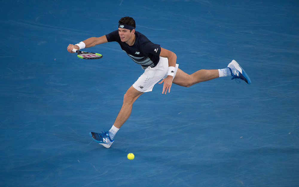 Milos Raonic of Canada on day ten of the 2017 Australian Open at Melbourne Park on January 25, 2017 in Melbourne, Australia.<br /> (Ben Solomon/Tennis Australia)