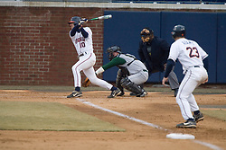 Virginia Cavaliers infielder Tyler Cannon (10) in an at bat against W&M. The Virginia Cavaliers Baseball Team defeated William and Mary 17-2 at Davenport Field in Charlottesville, VA on February 20, 2007.
