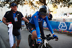Elisa Longo Borghini (ITA) finishes the UCI Road World Championships 2018 - Elite Women's ITT, a 27.7 km individual time trial in Innsbruck, Austria on September 25, 2018. Photo by Sean Robinson/velofocus.com