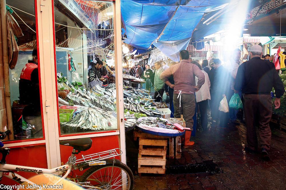 A local market in Izmir, Turkey.