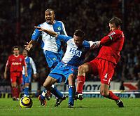 Fotball<br /> England 2004/2005<br /> Foto: BPI/Digitalsport<br /> NORWAY ONLY<br /> <br /> 21/11/2004 <br /> Blackburn Rovers v Birmingham City<br /> FA Barclays Premiership, Ewood Park<br /> <br /> Blackburn were denied a penalty when Kenny Cunningham appeared to haul Paul Dickov down
