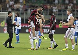 August 3, 2017 - Milan, Italy - The Milan team during the preliminaries of Europa League 2017/2018 match between Milan v Craiova, in Milan, on august 3, 2017  (Credit Image: © Loris Roselli/NurPhoto via ZUMA Press)