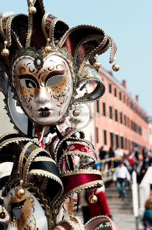 Mari Gras masks on display in Venice, Italy
