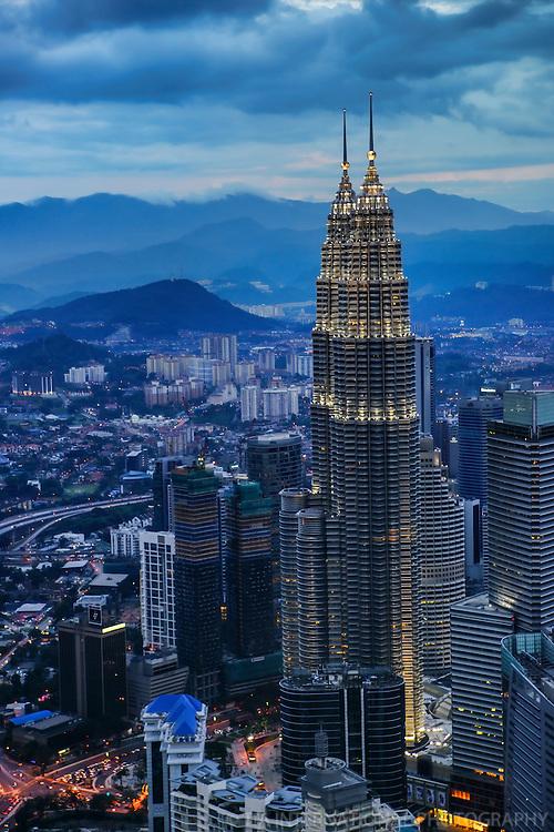 Petronas Towers, Early Evening