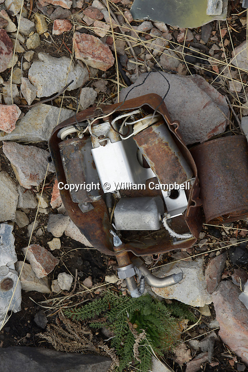 John JenningsThe remains of a SAC B-47 bomber that crashed at the 8,300 foot level of Emigrant Peak near Livingston, MT on the night of July 23, 1962. A piece of th aircraft is still embedded in a standing tree. The B47 was on a  nighttime cold war training flight from Dyess Air Force base in Texas. Four airman lost their lives in the crash.