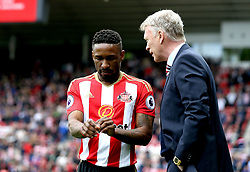 Jermain Defoe of Sunderland speaks with Sunderland manager David Moyes - Mandatory by-line: Robbie Stephenson/JMP - 13/05/2017 - FOOTBALL - Stadium of Light - Sunderland, England - Sunderland v Swansea City - Premier League