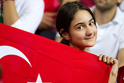Young Fan of Turkey during the finals basketball match between National teams of Turkey and USA at 2010 FIBA World Championships on September 12, 2010 at the Sinan Erdem Dome in Istanbul, Turkey.  USA defeated Turkey 81 - 64 and became World Champion 2010. (Photo By Vid Ponikvar / Sportida.com)