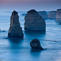 Australia, Victoria, Port Campbell National Park, Twelve Apostles at dusk