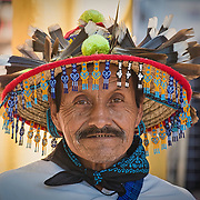 A Huichol from the mountains selling his beadwork in Chacala, Nayarit