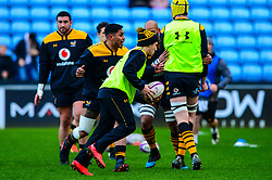 Wasps warm up - Mandatory by-line: Dougie Allward/JMP - 18/01/2020 - RUGBY - Ricoh Arena - Coventry, England - Wasps v Bordeaux-Begles - European Rugby Challenge Cup