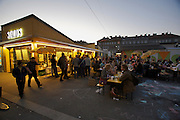 "SOHO in Ottakring. Nightshopping at Brunnenmarkt ""mit Delikatessen und Delikattrinken."" Staud's delikatessen..Now in its 9th year, SOHO in Ottakring is an established art festival in public spaces of Vienna's 16th city district. In cooperation with the local community, up to 200 artists take part in the annual festival at the end of May/beginning of June. The festival is a huge success and has helped develop the formerly neglected and decaying district into a sprawling, 'hip' urban area. More info in German at: www.sohoinottakring.at"