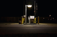 Fuel pump illuminated at night