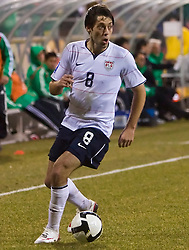 United States forward Clint Dempsey (8).  The United States men's soccer team defeated the Mexican national team 2-0 in CONCACAF final group qualifying for the 2010 World Cup at Columbus Crew Stadium in Columbus, Ohio on February 11, 2009.