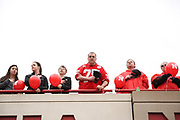 Fans during the National Anthem before the Nebraska Huskers Spring Game on April 21, 2018. Photo by Ryan Loco.