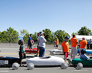 Competitors line up for their races at a local soapbox derby event on Lakeshore Boulevard in Irondequoit on Saturday, May 31, 2014. Eighty-two competitors raced in six divisions, with the winner of each division advancing to the world championships in Akron, Ohio.