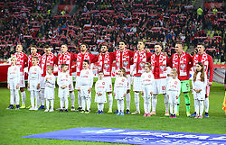 November 15, 2018 - Gdansk, Pomorze, Poland - Poland national football team  during the international friendly soccer match between Poland and Czech Republic at Energa Stadium in Gdansk, Poland on 15 November 2018  (Credit Image: © Mateusz Wlodarczyk/NurPhoto via ZUMA Press)