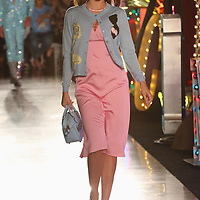 Model Miranda Kerr walks down the runway at the Moschino fashion show at MADE Fashion Festival on Thursday, June 8, 2017, in Los Angeles. (Photo by Willy Sanjuan/Invision/AP)