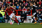 Nottingham Forest midfielder, on loan from Aston Villa, Gary Gardner  during the The FA Cup fourth round match between Nottingham Forest and Watford at the City Ground, Nottingham, England on 30 January 2016. Photo by Simon Davies.