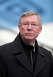 MANCHESTER, ENGLAND - Sunday, January 8, 2012: Manchester United's manager Alex Ferguson before the FA Cup 3rd Round match against Manchester City at the City of Manchester Stadium. (Pic by David Rawcliffe/Propaganda)