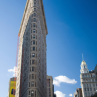 Frontal view of Flatiron building, NYC, USA