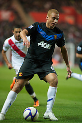 SOUTHAMPTON, ENGLAND - Saturday, January 29, 2011: Manchester United's Wes Brown during the FA Cup 4th Round match at St. Mary's Stadium. (Photo by Gareth Davies/Propaganda)