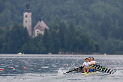 Andraz Krek, Luka Spik,  Jan Spik and Gasper Fistravec compete during finals at Rowing World Cup  on May 30, 2010, at Bled's lake, Bled, Slovenia. (Photo by Vid Ponikvar / Sportida)