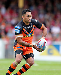 Castleford Tigers Quentin Laula-Togaga'e during the Betfred Super League match at the Mend-A-Hose Jungle, Casteford. PRESS ASSOCIATION Photo. Picture date: Sunday June 17, 2018. See PA story RUGBYL Castleford. Photo credit should read: Richard Sellers/PA Wire. RESTRICTIONS: Editorial use only. No commercial use. No false commercial association. No video emulation. No manipulation of images.
