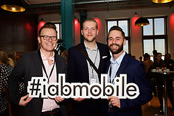 29/10/2015<br /> IAB Conference at the Guinness Storehouse.<br /> (l-r):<br /> Evin Gaffney (Facebook);<br /> Dave O'Kane (Maximum Media) and <br /> Dec Dockery (DME Media).