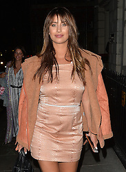 Former TOWIE star Ferne McCann leaving the sketch restaurant in London, UK. 22/08/2016<br />BYLINE MUST READ : GOTCHAIMAGES.COM<br /><br />Copyright by © Gotcha Images Ltd. All rights reserved.<br />Usage of this image is conditional upon the acceptance <br />of Gotcha Images Ltd, terms and conditions available at<br />www.gotchaimages.com