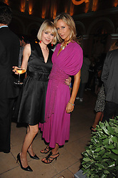 Left to right, MISS ANTONIA HEDLEY-DENT  and LADY VICTORIA HERVEY at the Quintessentially Summer Party at the Wallace Collection, Manchester Square, London on 6th June 2007.<br />