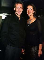 MISS NATASHA CAINE daughter of actor Michael Caine and MR TIM SCOTT,  at a party in London on 2nd November 1999.MYM 37