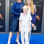 NLD/Amsterdam/20150620- Filmpremiere Code M, Bianca Krijgsman met haar kinderen Lizzy en Bob-jan