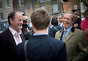 Ukip Leader Nigel Farage and Douglas Carswell on walkabouts in Sandwich, 5th May 2015.