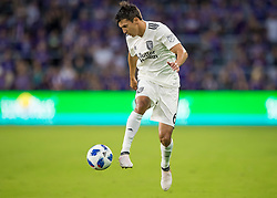 April 21, 2018 - Orlando, FL, U.S. - ORLANDO, FL - APRIL 21: San Jose Earthquakes midfielder Shea Salinas (6) during the MLS soccer match between the Orlando City FC and the San Jose Earthquakes at Orlando City SC on April 21, 2018 at Orlando City Stadium in Orlando, FL. (Photo by Andrew Bershaw/Icon Sportswire) (Credit Image: © Andrew Bershaw/Icon SMI via ZUMA Press)