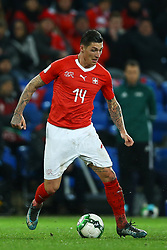 November 12, 2017 - Basel, Switzerland - Steven Zuber of Switzerland  during the FIFA 2018 World Cup Qualifier Play-Off: Second Leg between Switzerland and Northern Ireland at St. Jakob-Park on November 12, 2017 in Basel, Basel-Stadt. (Credit Image: © Matteo Ciambelli/NurPhoto via ZUMA Press)
