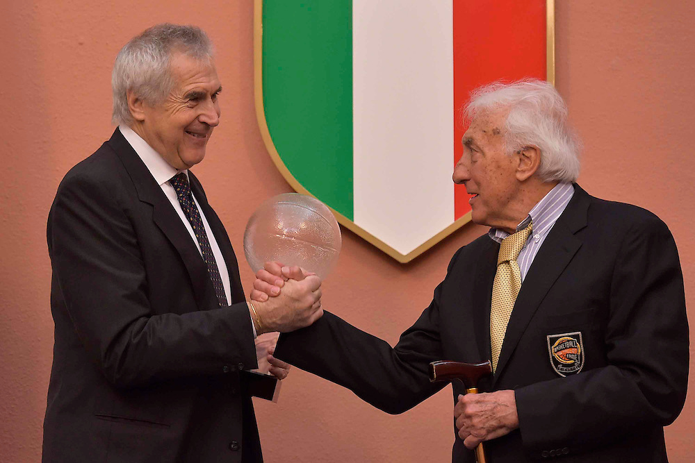 DESCRIZIONE : Roma Basket Day Hall of Fame 2014<br /> GIOCATORE : Alessandro Gamba Marino Zanatta<br /> SQUADRA : FIP Federazione Italiana Pallacanestro <br /> EVENTO : Basket Day Hall of Fame 2014<br /> GARA : Roma Basket Day Hall of Fame 2014<br /> DATA : 22/03/2015<br /> CATEGORIA : Premiazione<br /> SPORT : Pallacanestro <br /> AUTORE : Agenzia Ciamillo-Castoria/GiulioCiamillo