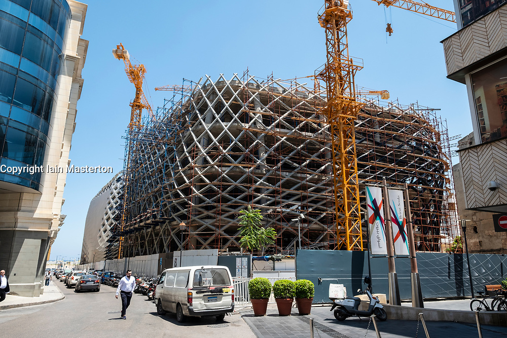 Construction site of new Department Store designed by late architect Zaha Hadid in Beirut Souks  in Downtown Beirut
