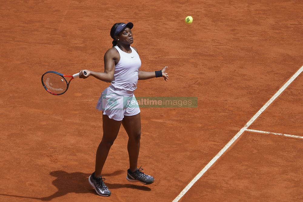 May 6, 2019 - Madrid, Spain - Sloane Stephens of The US against during day three of the Mutua Madrid Open at La Caja Magica on May 06, 2019 in Madrid, Spain. (Credit Image: © Oscar Gonzalez/NurPhoto via ZUMA Press)