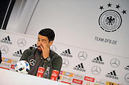 Sami Khedira of Germany speaks at a press conference at Stadio Communale, Ascona<br /> Picture by EXPA Pictures/Focus Images Ltd 07814482222<br /> 31/05/2016<br /> ***UK &amp; IRELAND ONLY***<br /> EXPA-EIB-160531-0020.jpg