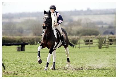 Buckingham Riding Club Eventer Trials at Milton Keynes Riding Club..5-4-2009. Porche
