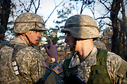 April 9, 2011, Boston, MA - Cadet Jon Broderick discusses tactics with another cadet. Photo by Lathan Goumas