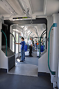 Eastern Europe, Hungary, Budapest, Interior of a Tram