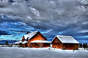 USA, Idaho, Valley County, Donnelly, Tamarack Resort, A House in the Winter