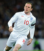 Wayne Rooney.England 2008/09.England V Ukraine (2-1) 01/04/09 .FIFA World Cup Qualifier at Wembley Stadium.