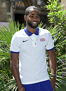 Delano Williams (GBR) poses prior to the Athletics World Cup, Friday, July 13, 2018, in London, United Kingdom.