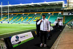 Aaron Hinkley of England U20 arrives at Franklin's Gardens - Mandatory by-line: Robbie Stephenson/JMP - 15/03/2019 - RUGBY - Franklin's Gardens - Northampton, England - England U20 v Scotland U20 - Six Nations U20